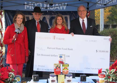 Callison Tighe Harvest Hope donation